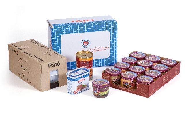 Tray packer für Fleisch in Dose und Glas