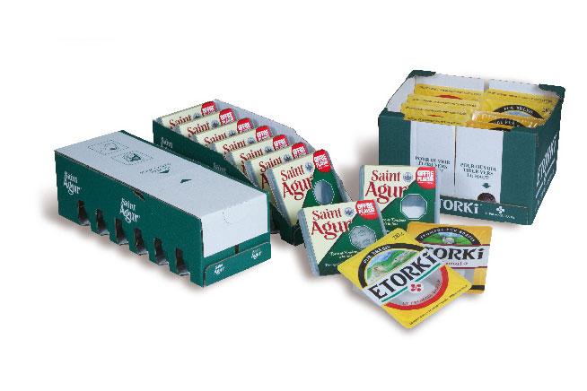 Tray packer für Käeseprodukte