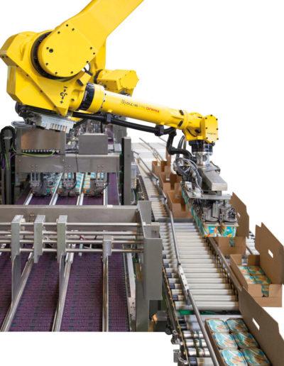 Karton vom Roboter befüllt
