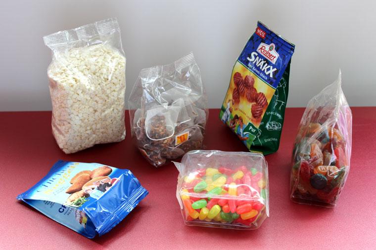 Schlauchbeutel für die Suesswaren Verpackung