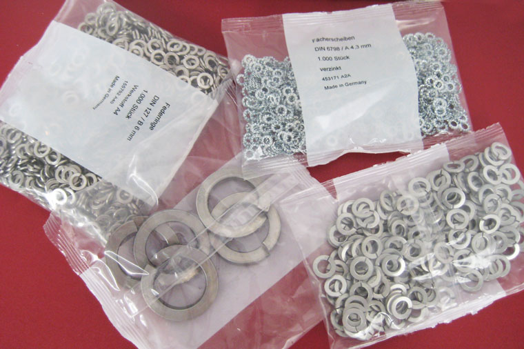Metallteile für Schlauchbeutel