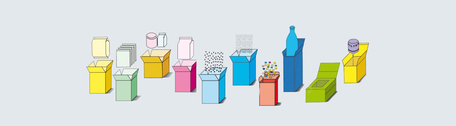Verpackung - Vertikale Kartonierer